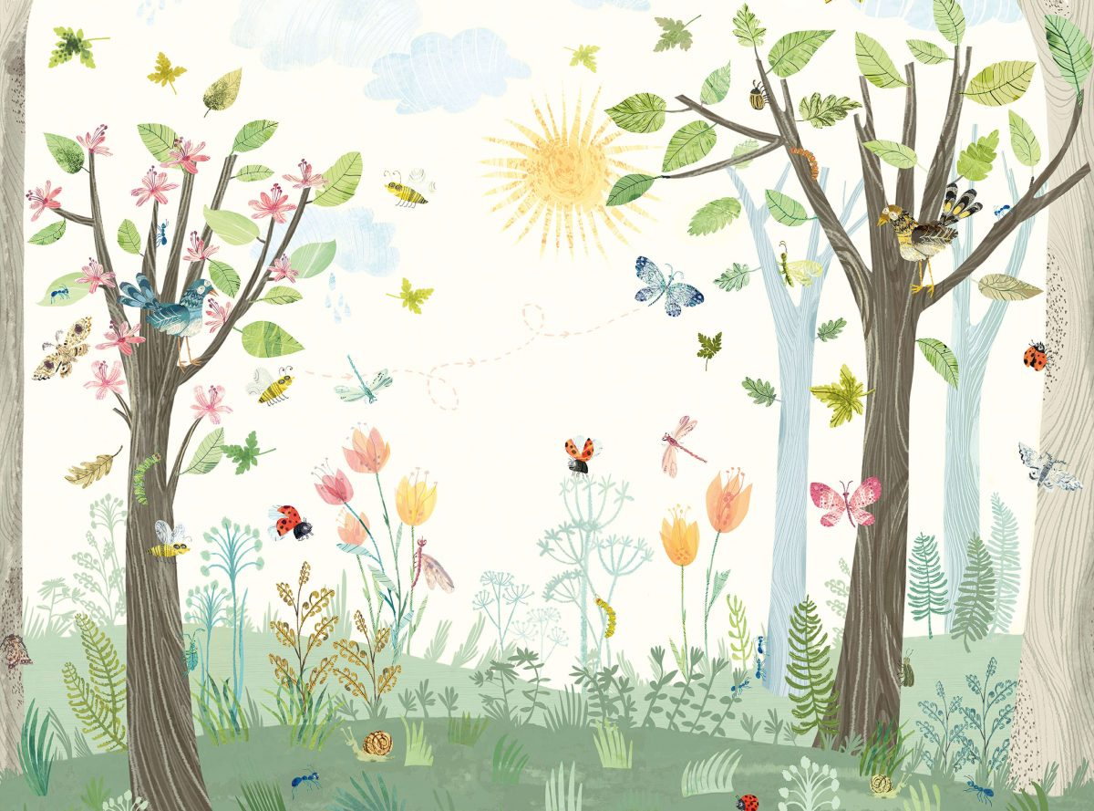 Carta da parati bambini animali villanova busy buzzy for Carta da parati bambini on line