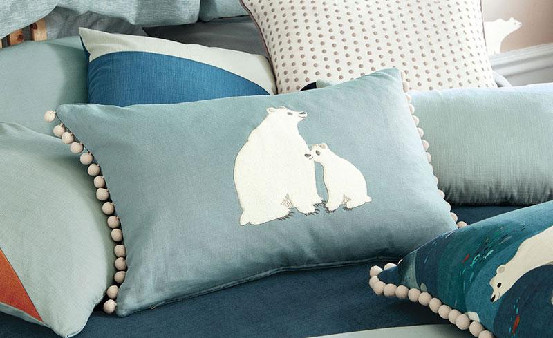 Cuscini per bambini orso polare Bear Hug AERREe